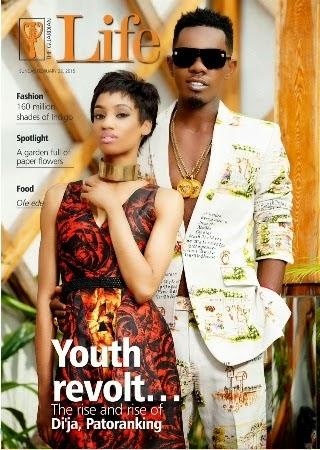 Di'ja and Patoranking Guardian Life Magazine