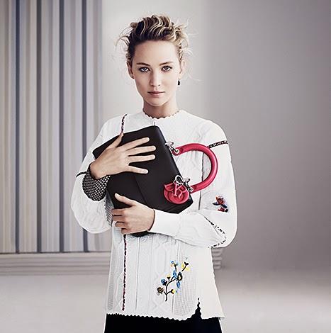 Jennifer Lawrence  poses for Dior