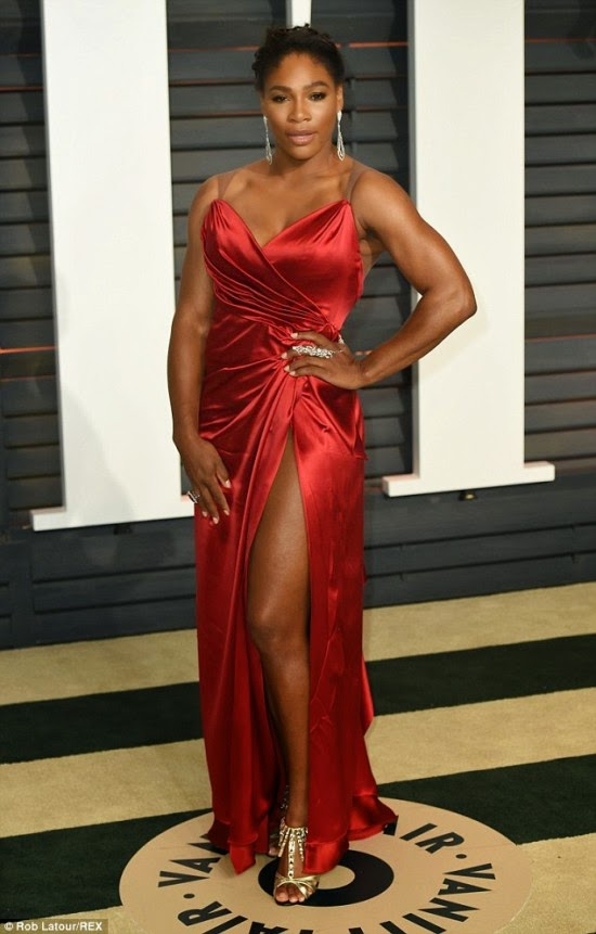 Serena Williams at the 2015 Vanity Oscar Award After Party