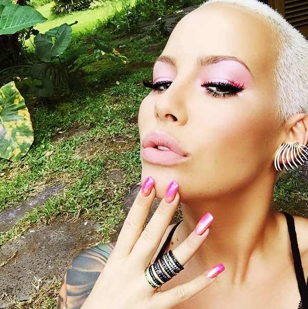 Amber Rose Poses Nude on the Beach