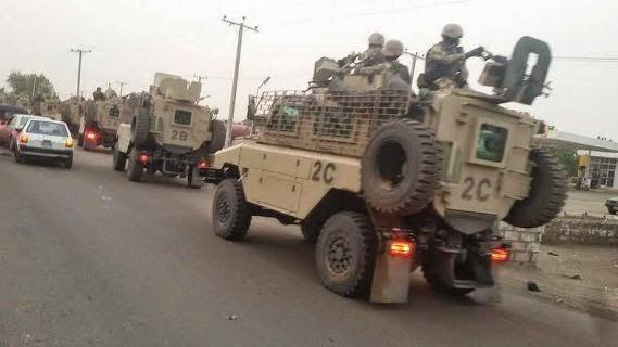 South Africa Military Present In Maiduguri