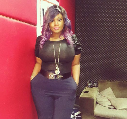 Beat Fm OAP Toolz shows off her curves and purple weave