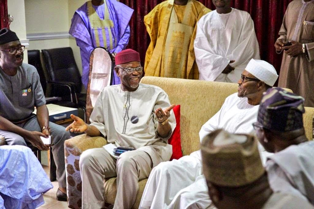 Gen Buhari watching final results of the 2015 presidential election