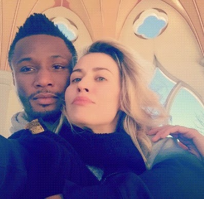 Mikel Obi and Girlfriend Olga Allegra