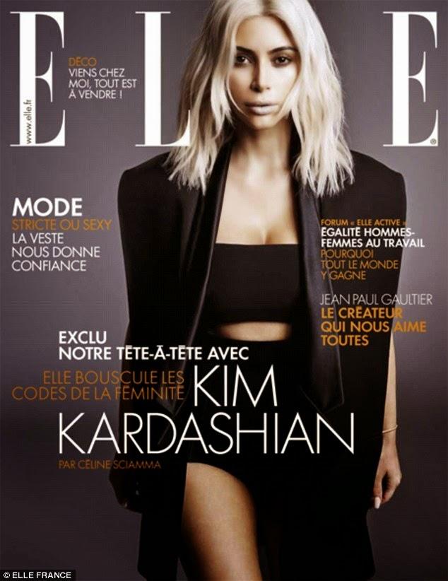 Kim Kardashian wows for Elle Magazime France