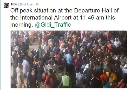 People Spotted At The Murtala Muhammed Airport Trooping Out
