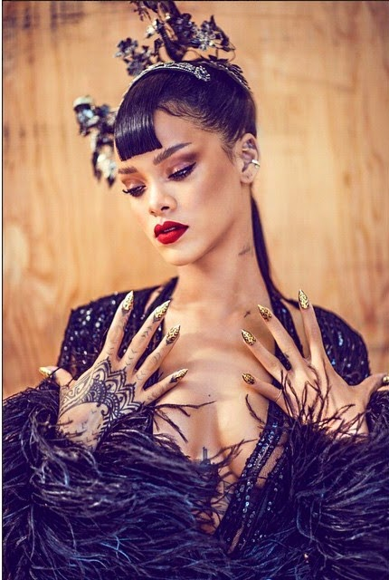 Rihanna takes Photos for Harpers Baazar China