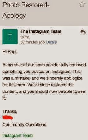 Instagram apologizes to girl with period pic, re-instates the photo