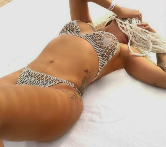 Toyin Lawani rocks her Swarovski stones bikini