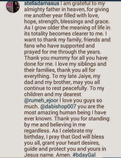 Happy Belated Birthday to Stella Damasus