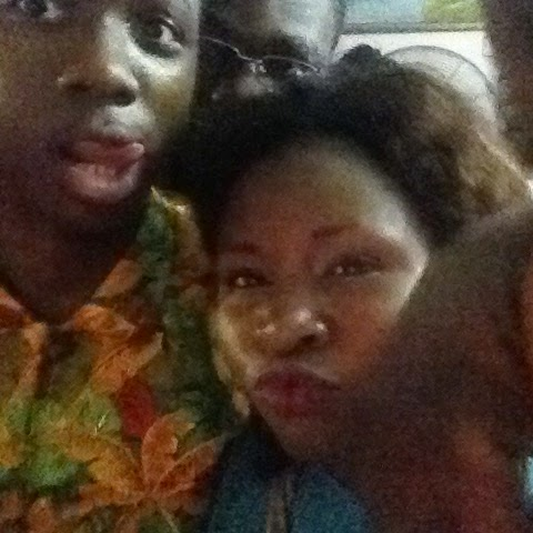 Gbemi taking sefie with friend