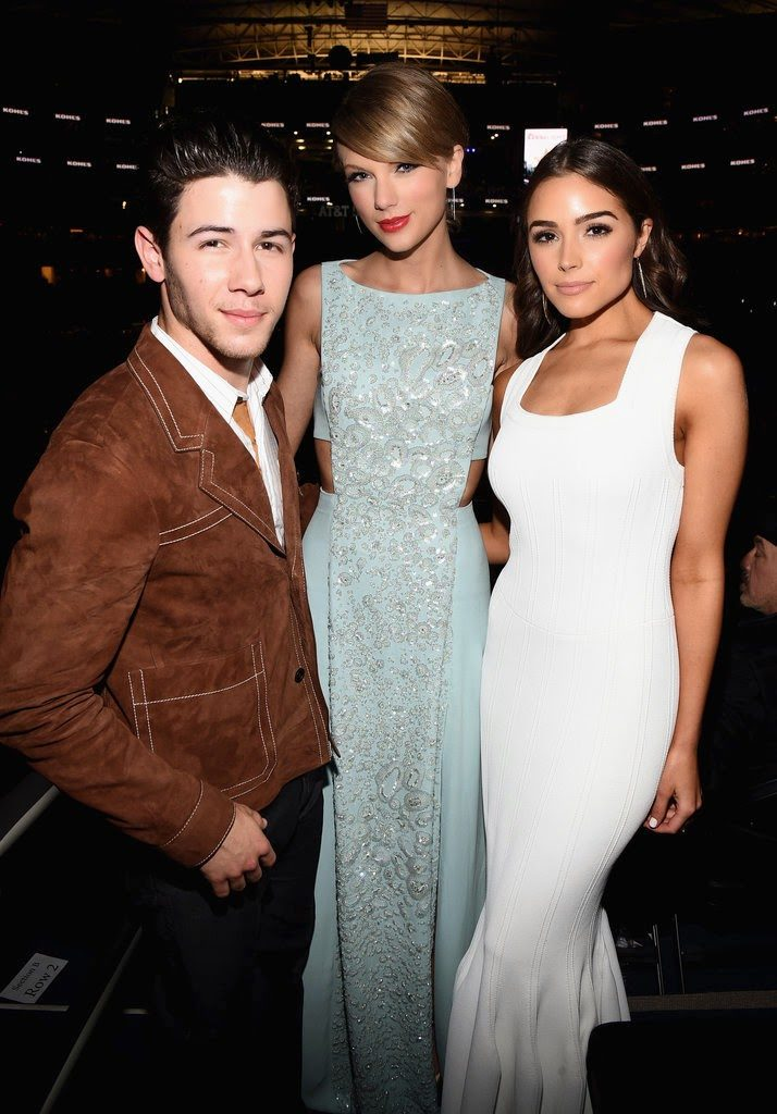 Nick Jonas, Taylor Swift, and Olivia Culpo