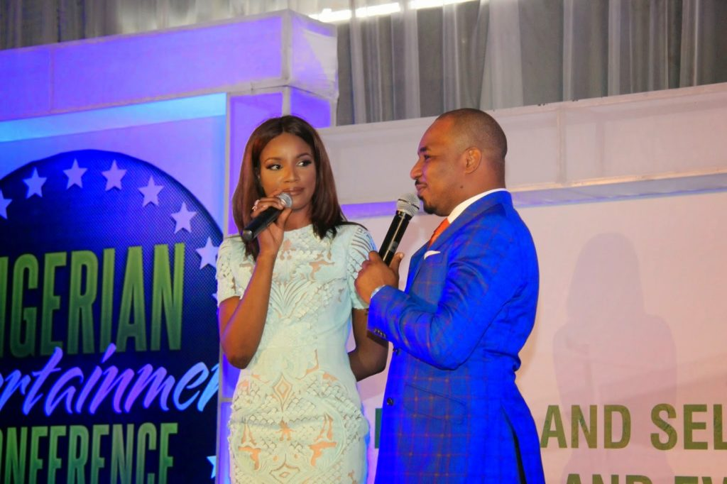 Seyi Shay and TA at the Nigerian Entertainment Conference