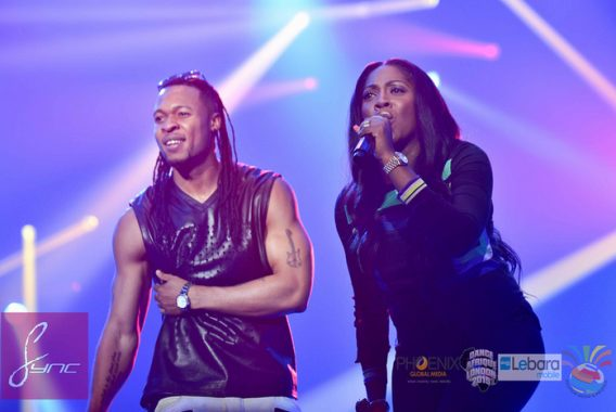Pregnant Tiwa Savage and  Flavour at Dance Afrique 2015