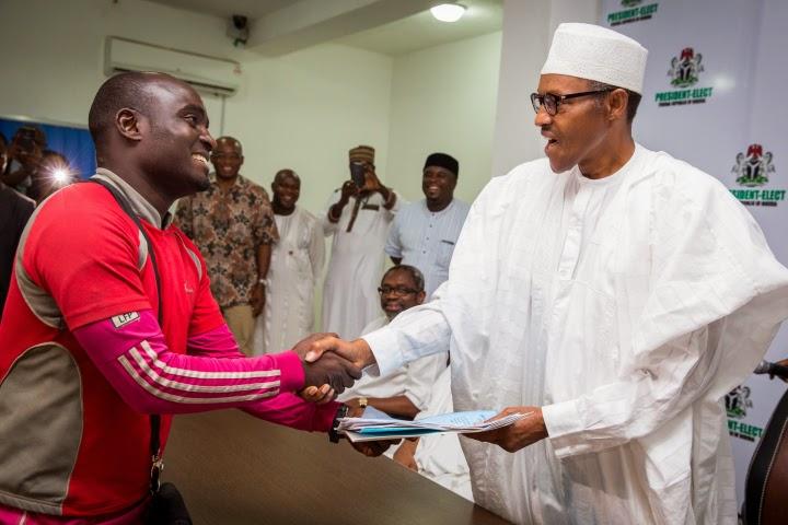 Suleiman Hashimu and Gen Buhari president Elect