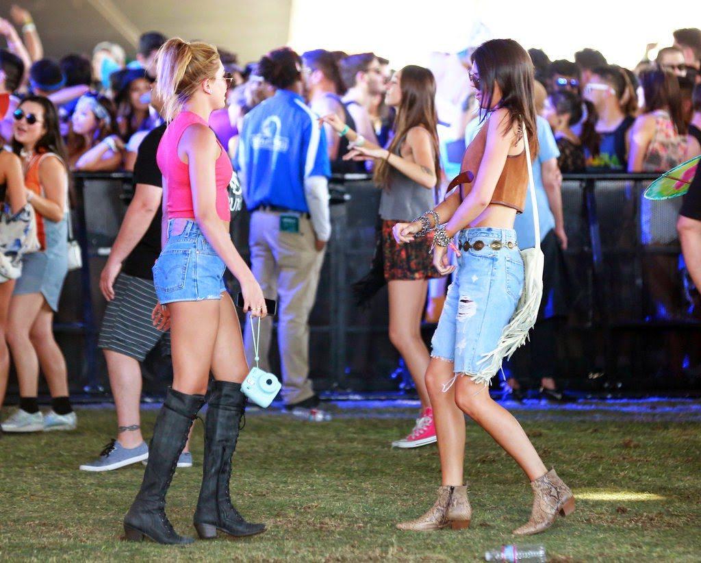 Kendall Jenner and BFF  Hailey Baldwin at Coachella 2015