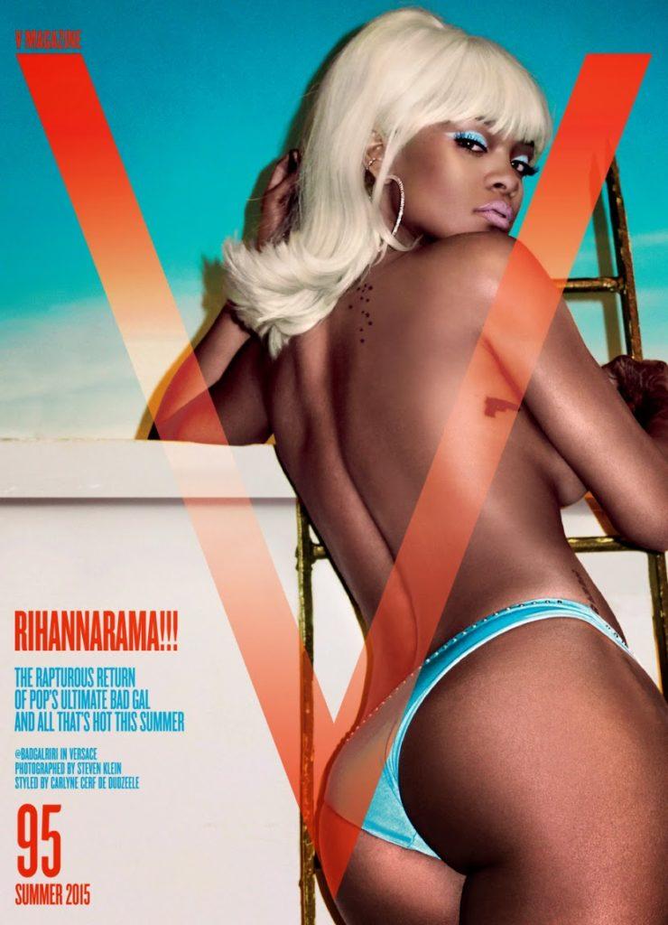 Rihanna pose Nude on V Mag Summer issue 2015