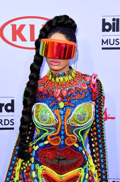 Cameroonian Music star Dencia Rocks Candy Crush Inspired Catsuit To Billboard Awards