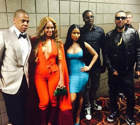 Beyonce Jayz Nicki Minaj Meek Mill at Mayweather vs Pacquiao fight