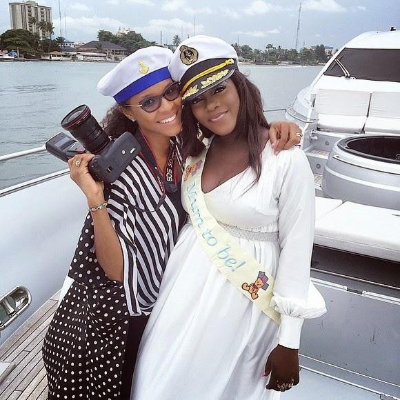 Tiwa Salvage baby shower on Femi Otedola's Yacht