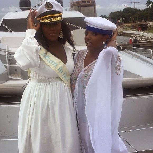 Tiwa Salvage, Annie Idibia on Femi Otedola's Yacht