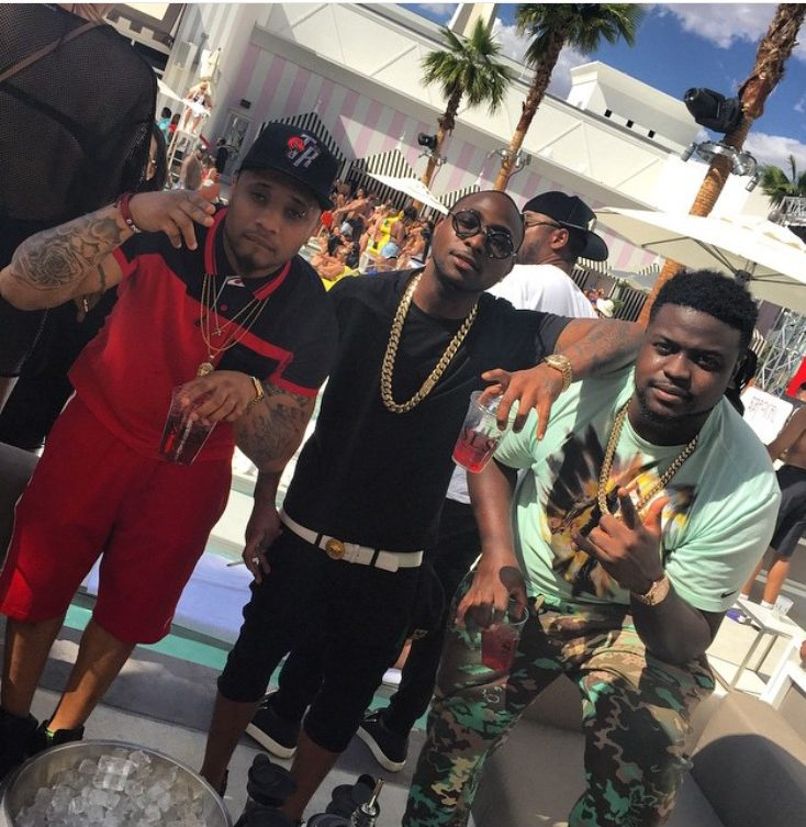 Davido performs and Parties on stage with 50 Cents in Vegas (Photos)
