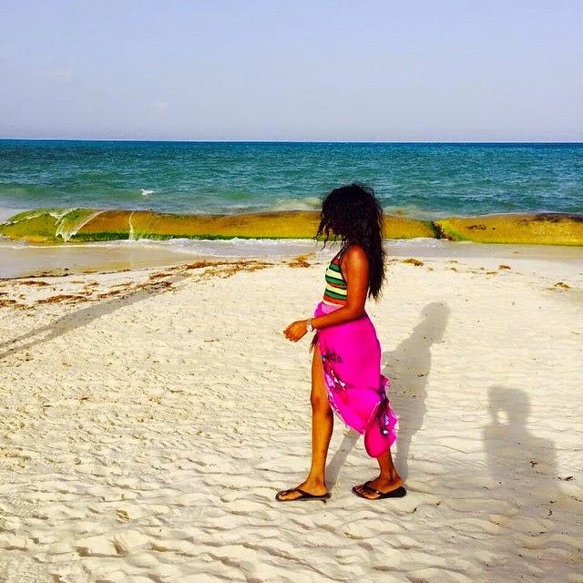 Genevieve Nnaji in banging,sexy bikini body while holidaying in Mexico