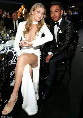 Gigi Hadid stunningly hot in Tom Ford as she's rumored to be seeing Lewis Hamilton