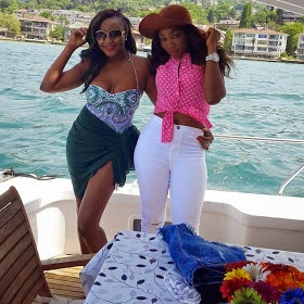 Ini Edo Flaunts her Sexy,black oranges and Bod in Bum Shorts