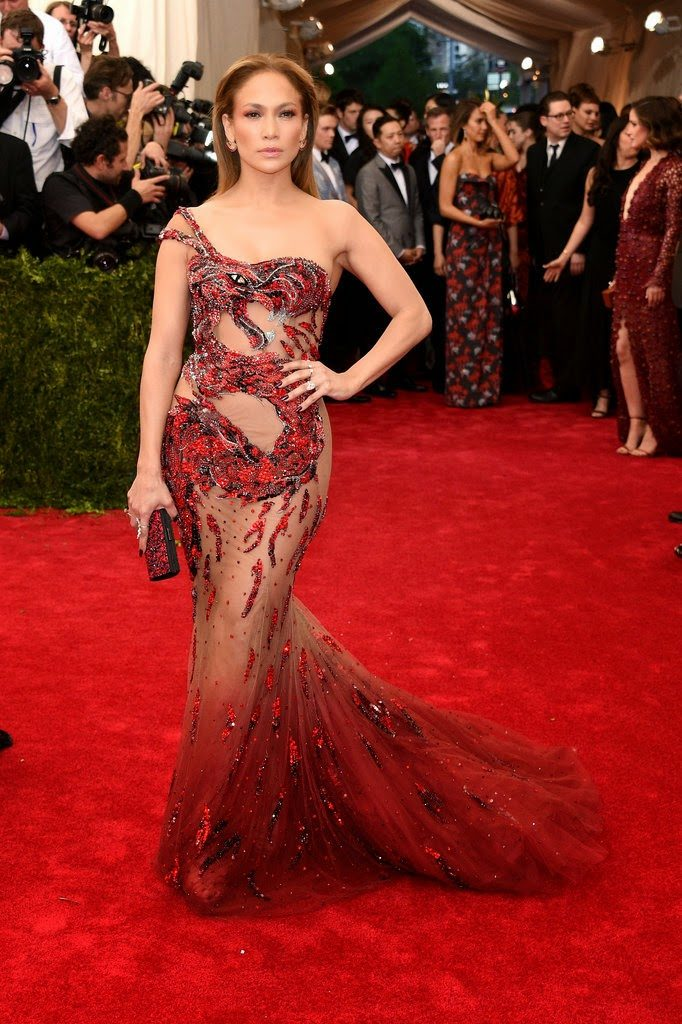 Jennifer Lopez looked hot,stunning and sexy at the Met Gala in NYC
