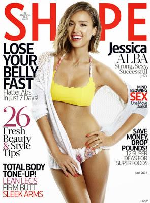 Jessica Alba stuning, as she covers Shape magazine June Edition