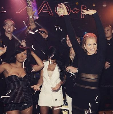 Khloe Kardashian  hangs out with her friends at the 1 Oak nightclub