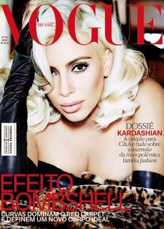 Kim Kardashian goes topless for Vogue Brasil