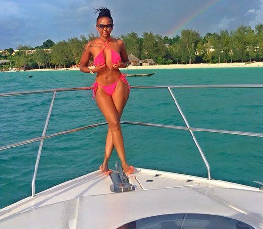 BBA Huddah Monroe in banging bikini as she holidays in Zanzibar,Tanazania