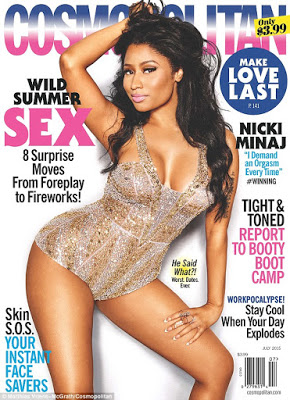 Nicki Minaj sexy,as she covers Cosmopolitan July Magazine Issue