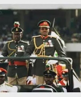 Photos of Buhari when he was sworn in 1983 and in 2015