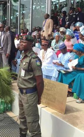 Yussuf Buhari at his Father's   inauguration at The Eagles Square Abuja