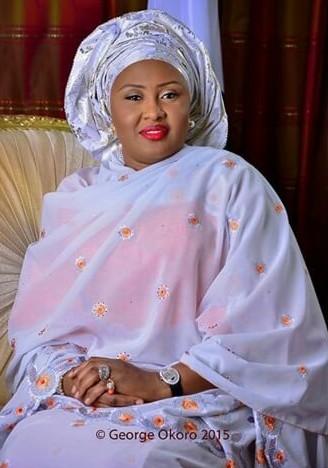 The First Lady of Nigeria, Mrs Aisha Buhari official Portrait Photo