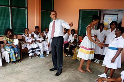 obama at a nursing home in kenya
