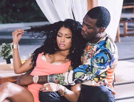 Meek Mill and Nicki Minaj  on set of all eyez on me music video