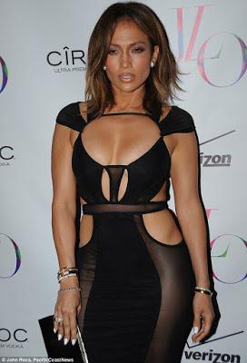 Jennifer Lopez goes nude,wears see-through black dress to celebrate 46th birthday