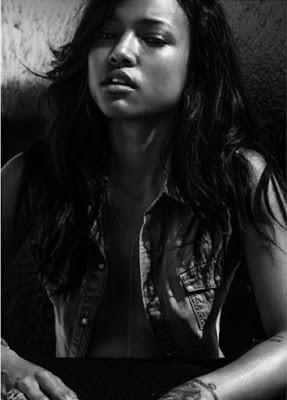 Karrueche Tran poses Bra-less for Flaunt magazine