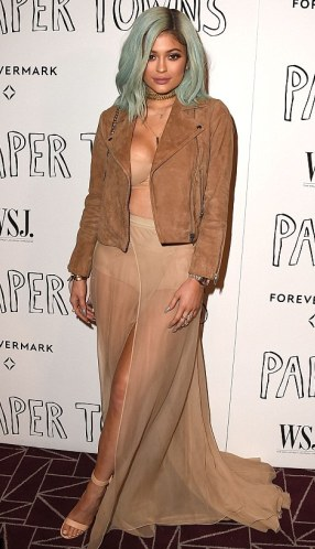 Kendal and Kylie Jenner attends Paper Town movie premiere, while flashing see-through underwear