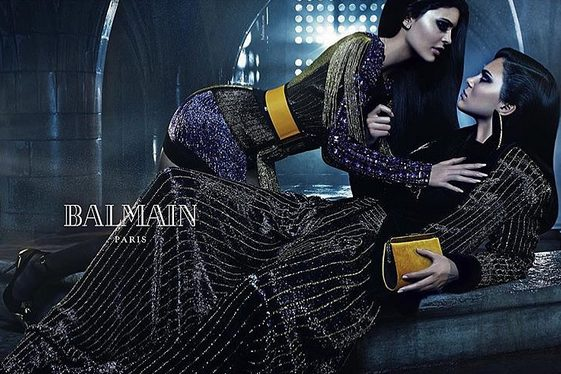 Kylie and Kendall shoot for Balmain (photo)
