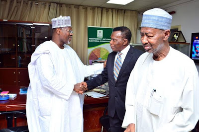 Professor Jega officially hands over