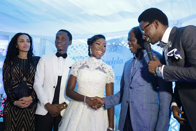 Adams Oshiomhole and his wife, Iara Fortez Attends Bayo Omoboriowo Wedding