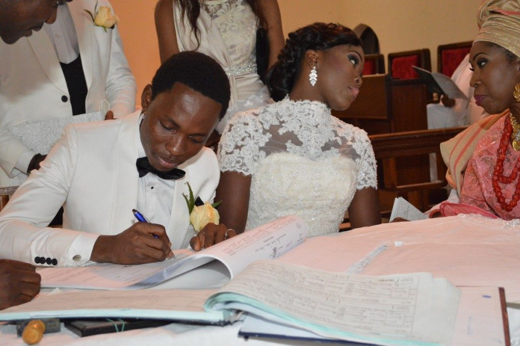 More Official photos from the wedding of Bayo Omoboriowo and Lola Omitokun