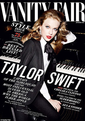 Taylor Swift covers  Vanity fair Magazine September Issue, talks about sharing bfs