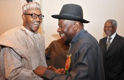 GoodLuck Jonathan Visits Aso Rock, In a Late Night Meeting With President Buhari