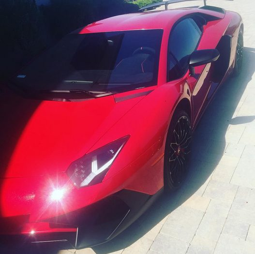 Chris Brown Gives his Daughter Royalty special Treat by Giving her a Ride in his New Red LamborghiniChris Brown Gives his Daughter Royalty special Treat by Giving her a Ride in his New Red Lamborghini